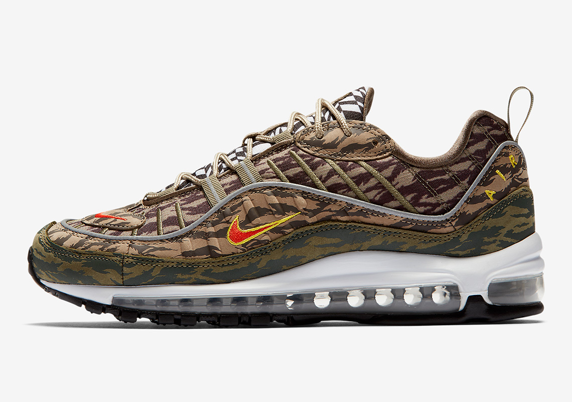 Air Max 98 Tiger Camo, nike, swoosh