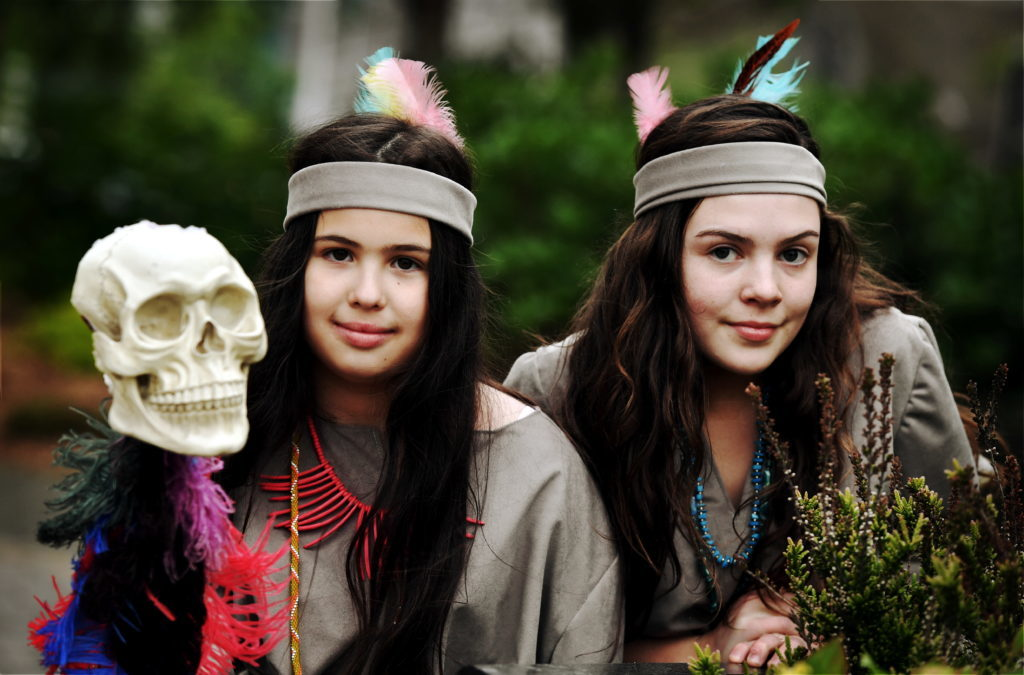 Indians Rosa Treacy and Candice Hunter.