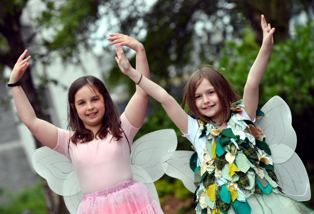 Fairy Morgan Swallow and Tinkerbell Ellie Butler.