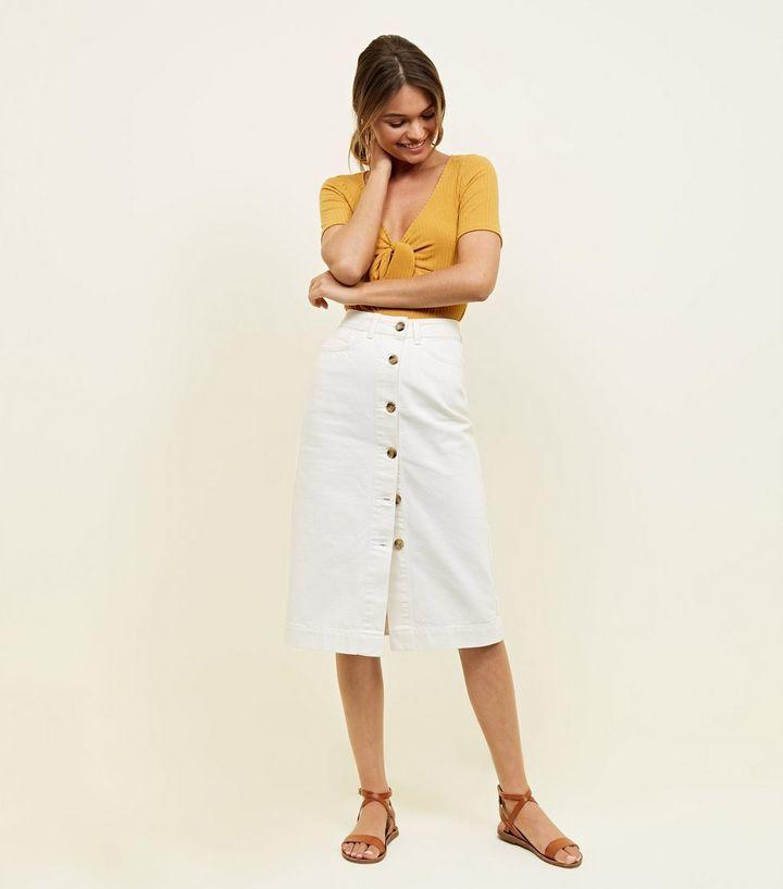 denim skirt fashion trend summer