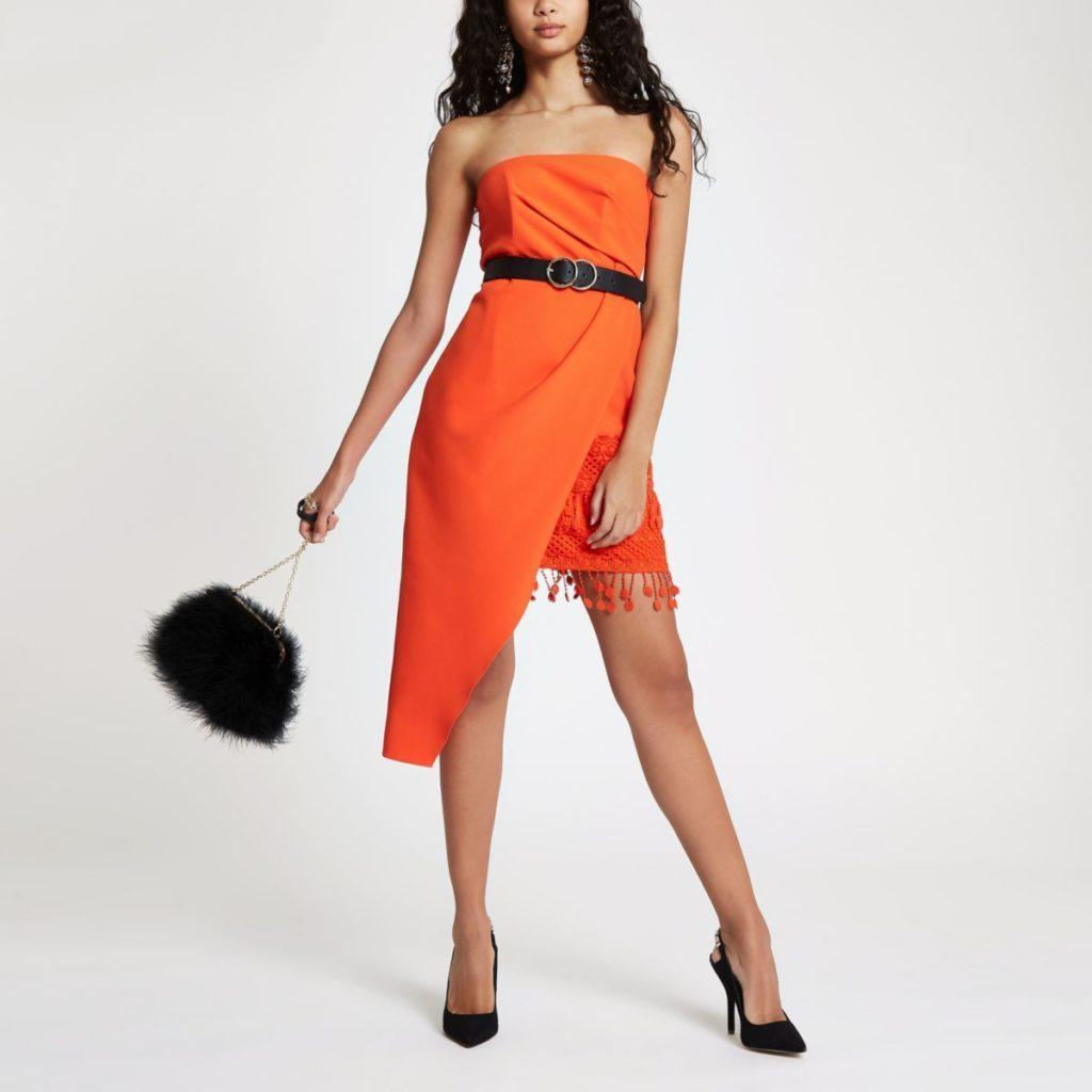 river island, orange dress