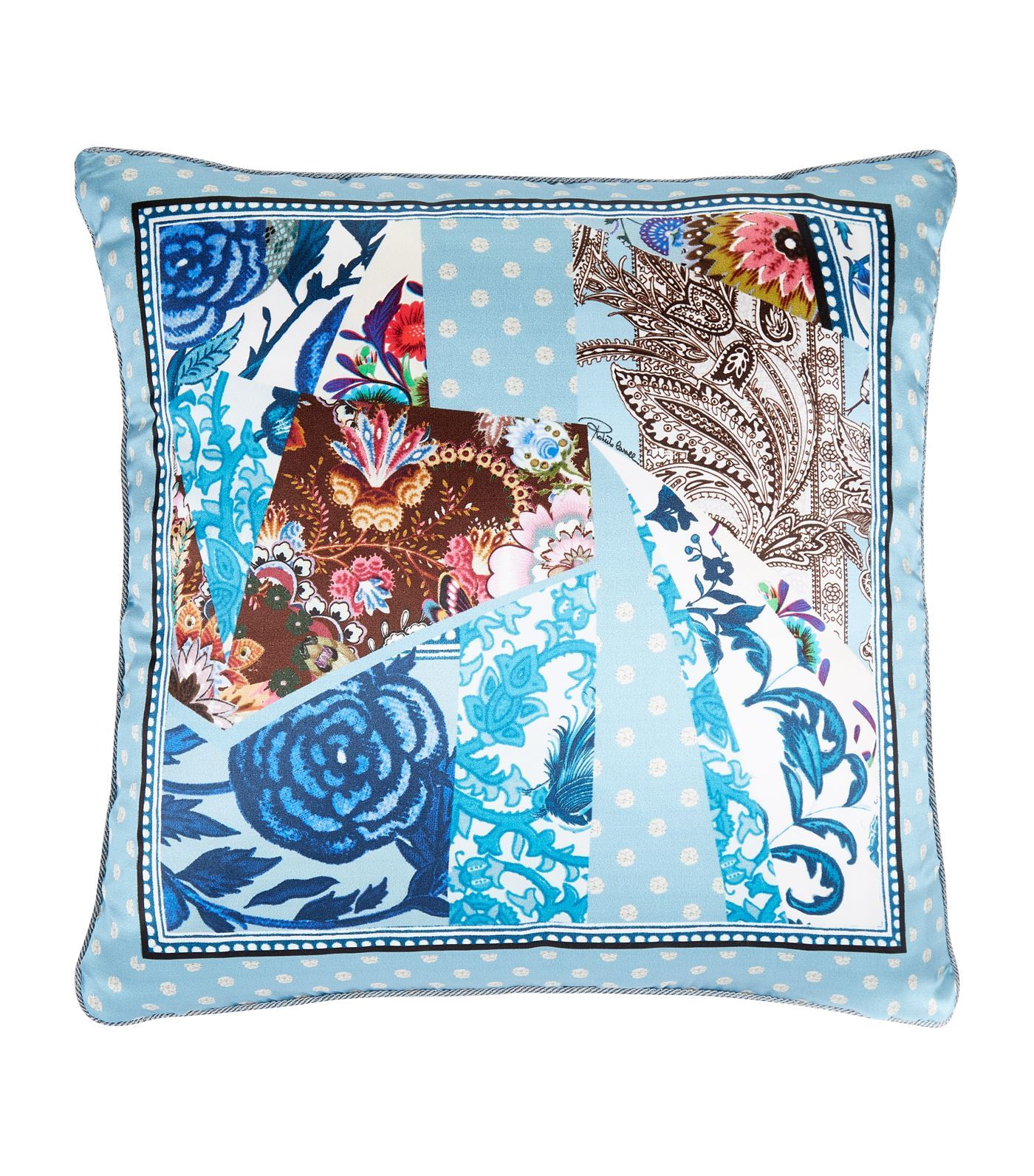 ocean blue cushion