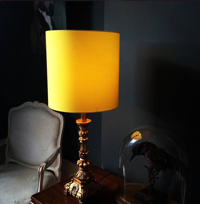 yellow homeware, sunny home style trend lamp