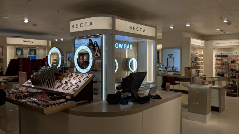 BECCA cosmetic's new counter in John Lewis