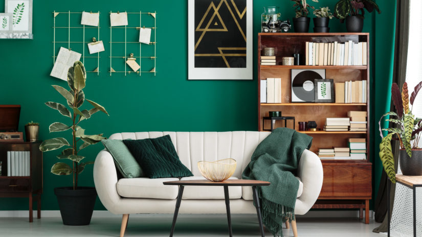 emerald green homeware